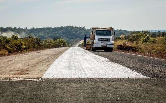 obras mt-100 rodovia
